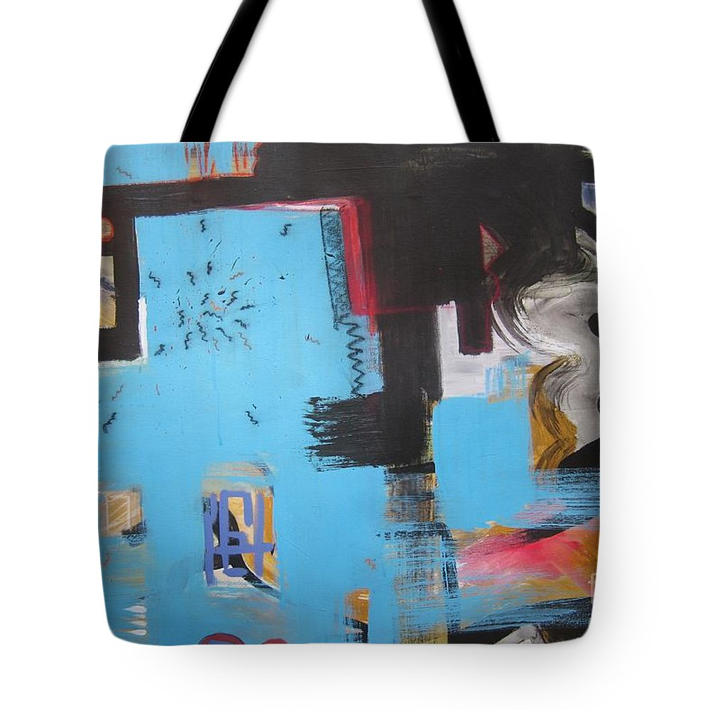 Abstract Tote Bag featuring the painting A False Painting by Seon-Jeong Kim