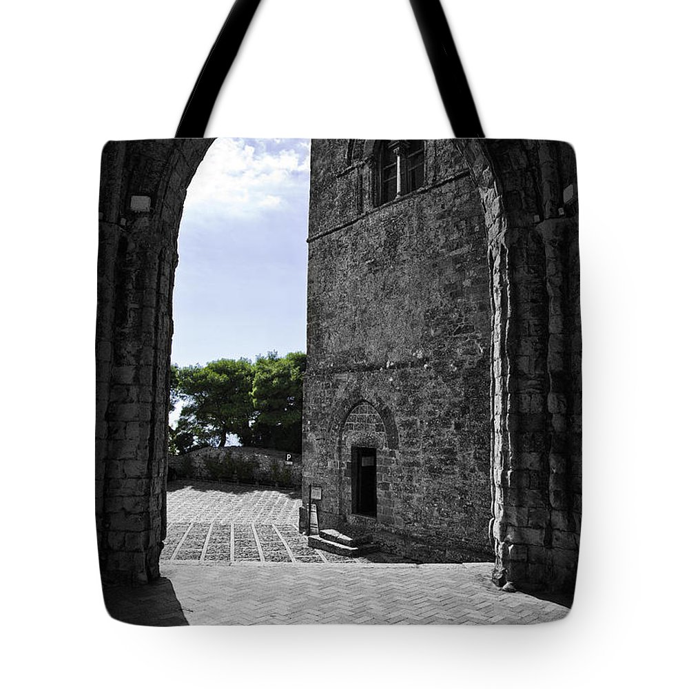 Arch Tote Bag featuring the photograph A Gothic View by Madeline Ellis