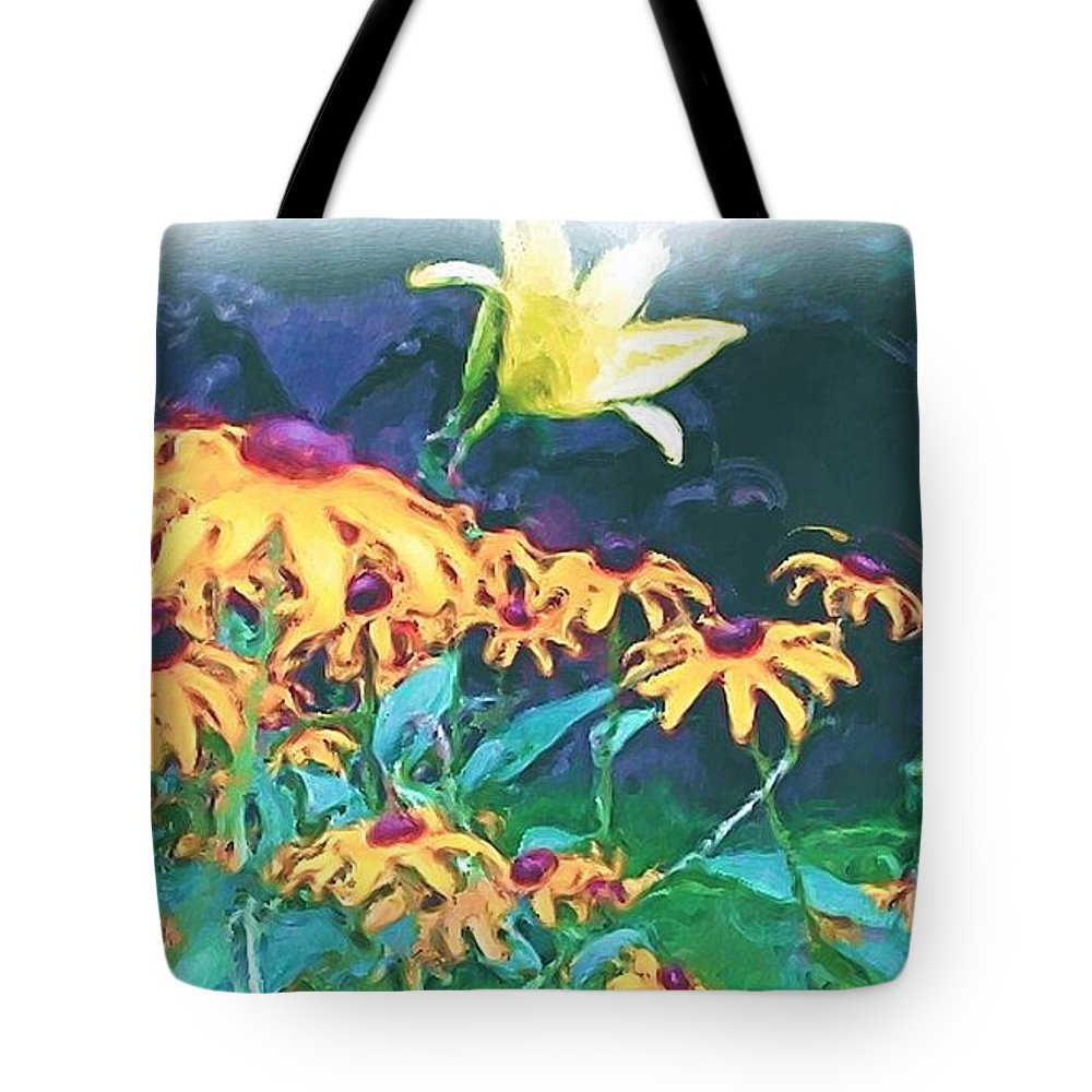 Mixed Media Tote Bag featuring the painting A Lily in the Field by Patricia Griffin Brett