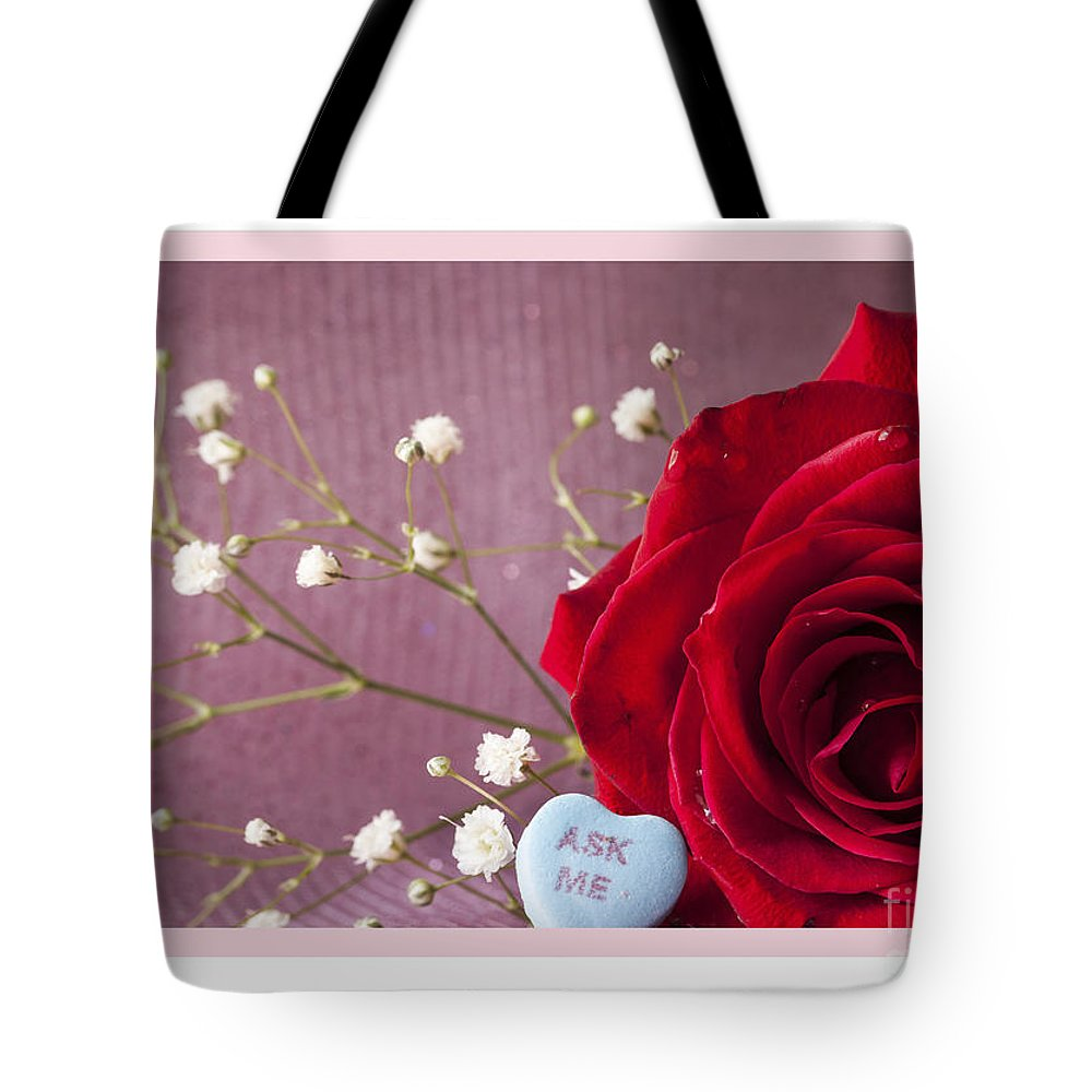 Flowers Tote Bag featuring the photograph A Rose For Valentine's Day - 2 by Donna Crider