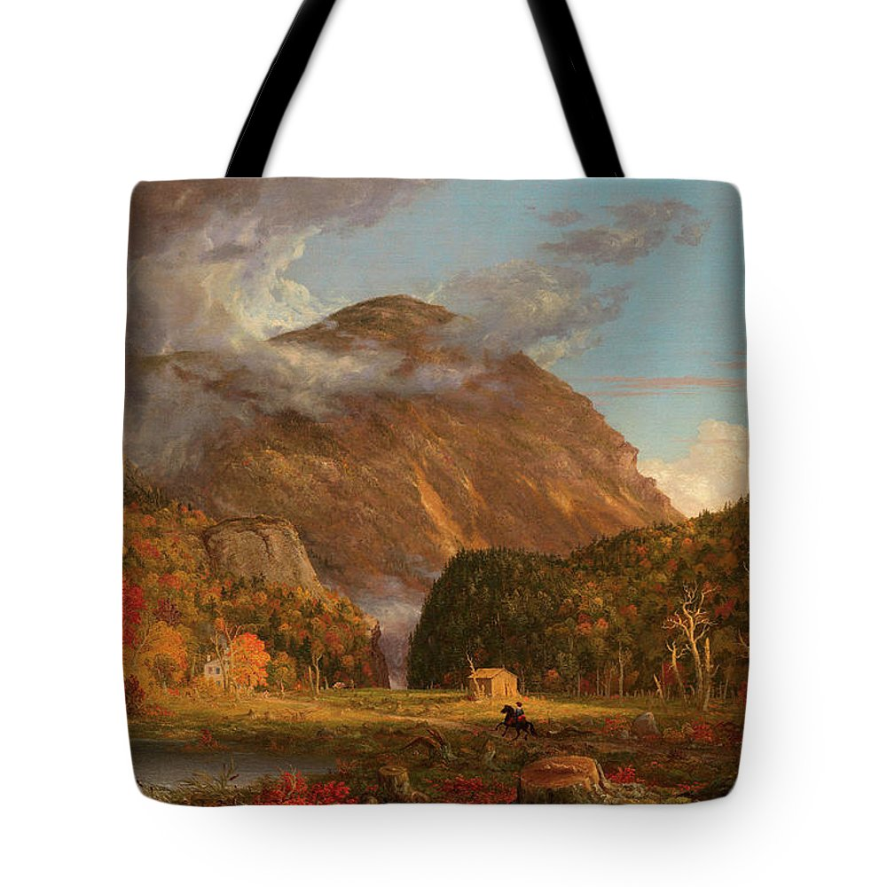 View Tote Bag featuring the painting A View Of The Mountain Pass Called The Notch Of The White Mountains, Crawford Notch 2 by Thomas Cole