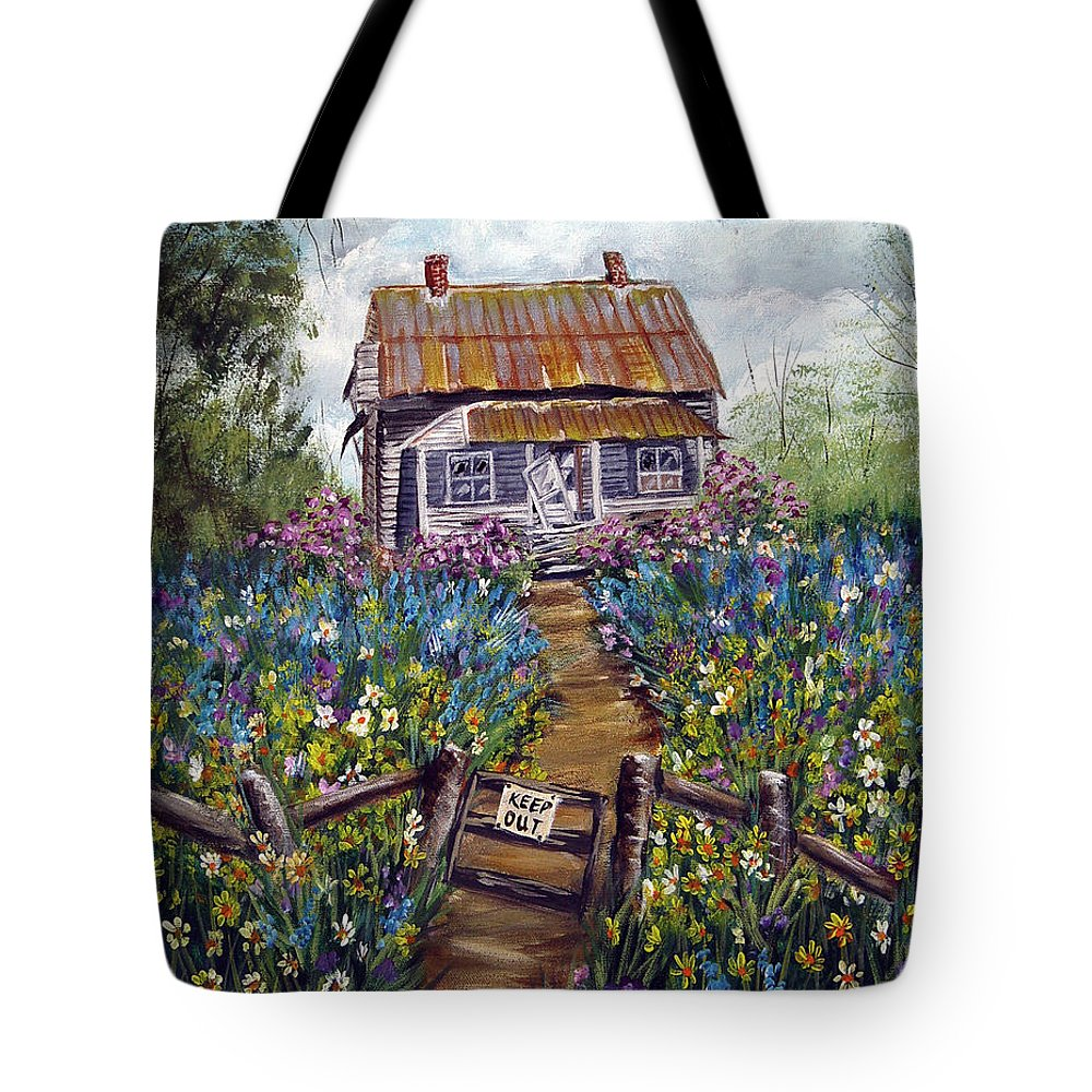 House Tote Bag featuring the painting Abandoned House by Quwatha Valentine
