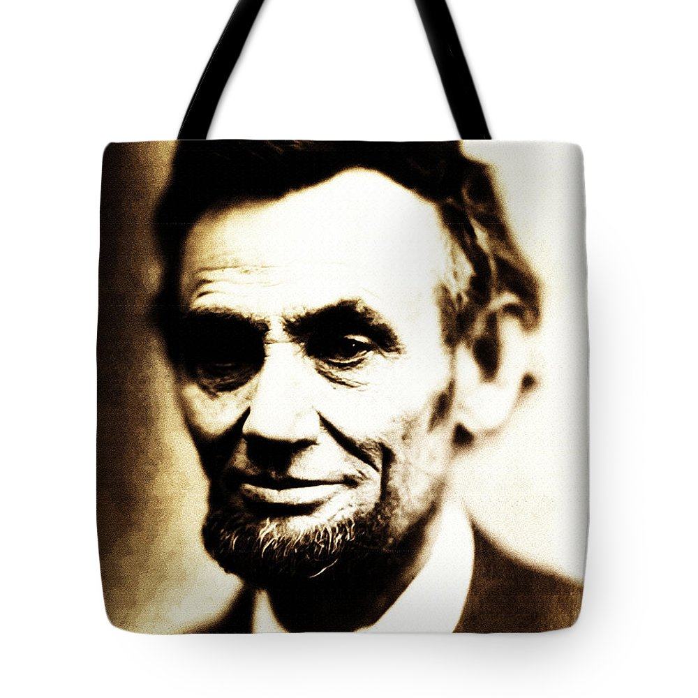 Abraham Lincoln Tote Bag featuring the photograph Abe by Bill Cannon