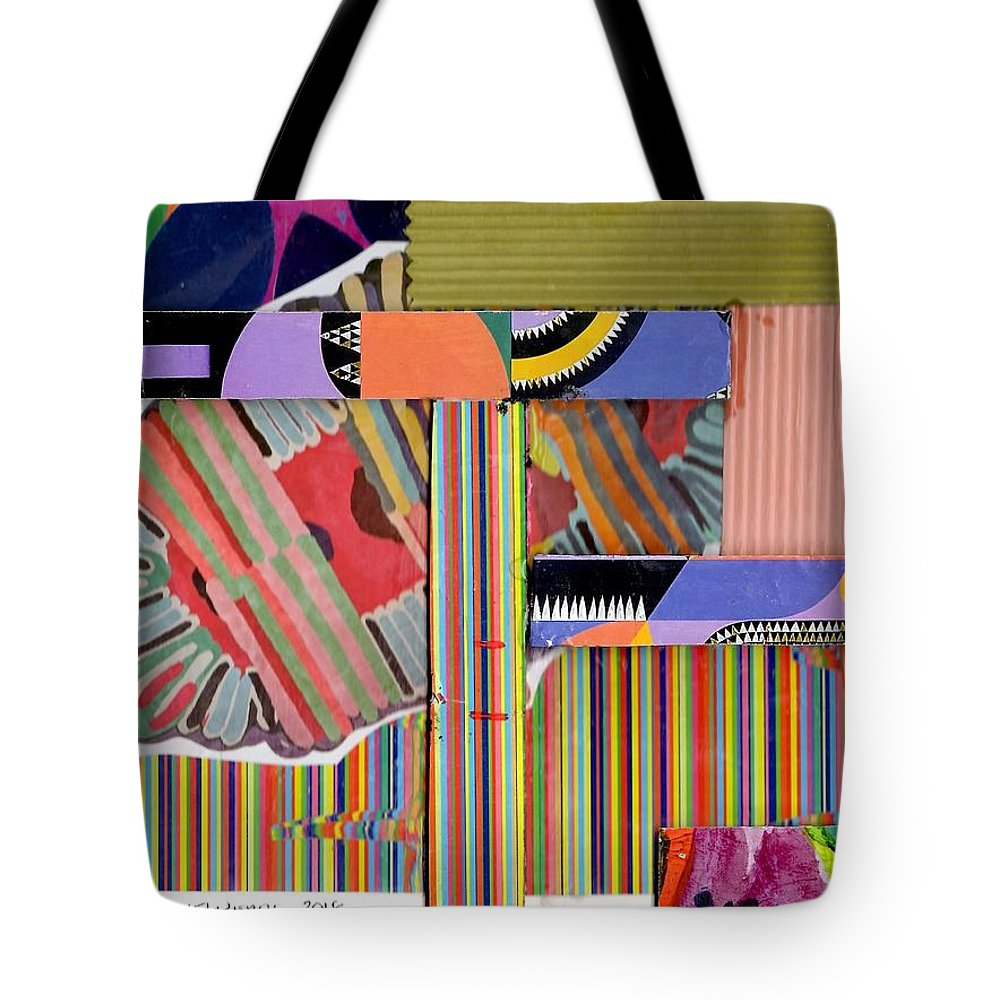Abstract Art Tote Bag featuring the drawing Abstract Collage by Paul Meinerth
