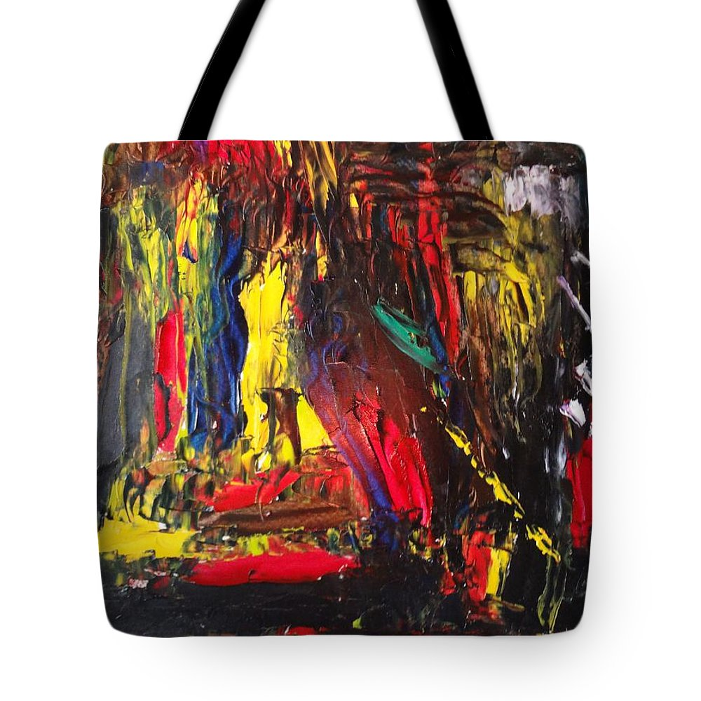 Abstract Tote Bag featuring the painting Abstract by Murali S