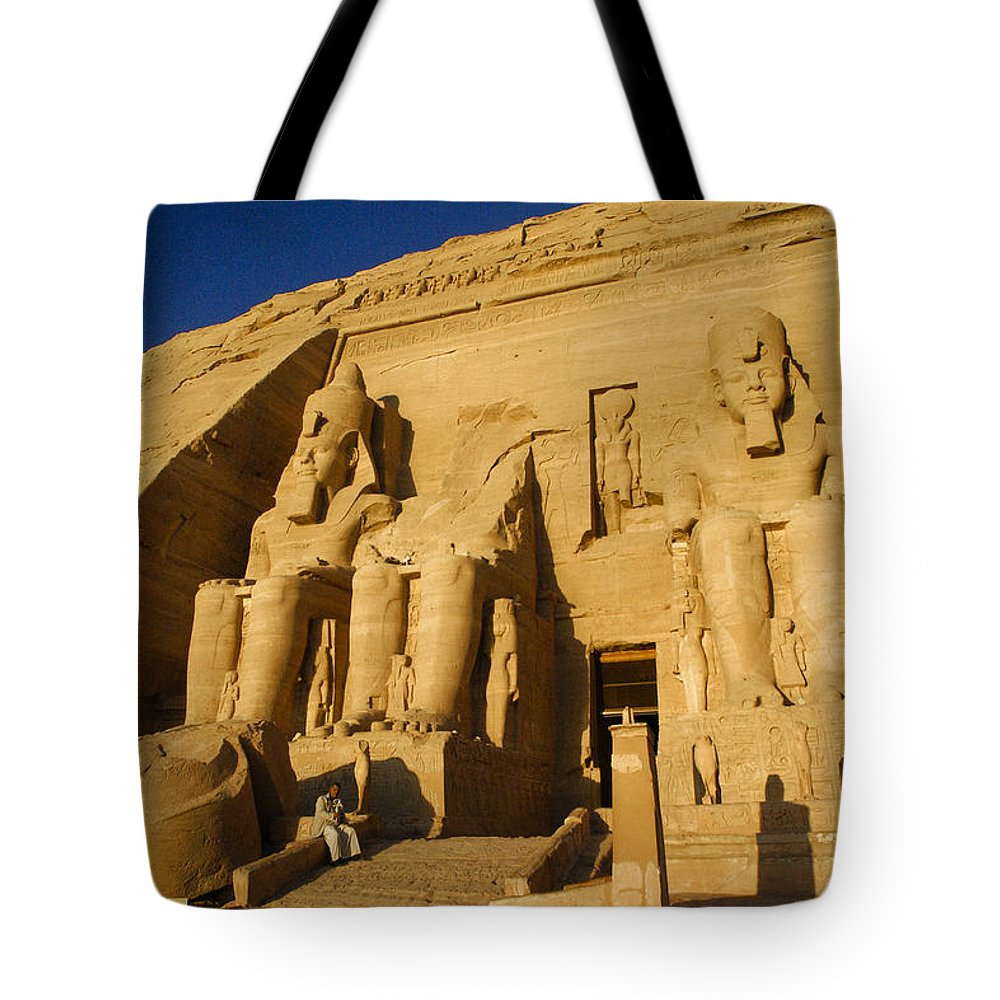 Egypt Tote Bag featuring the photograph Abu Simbel by Michele Burgess