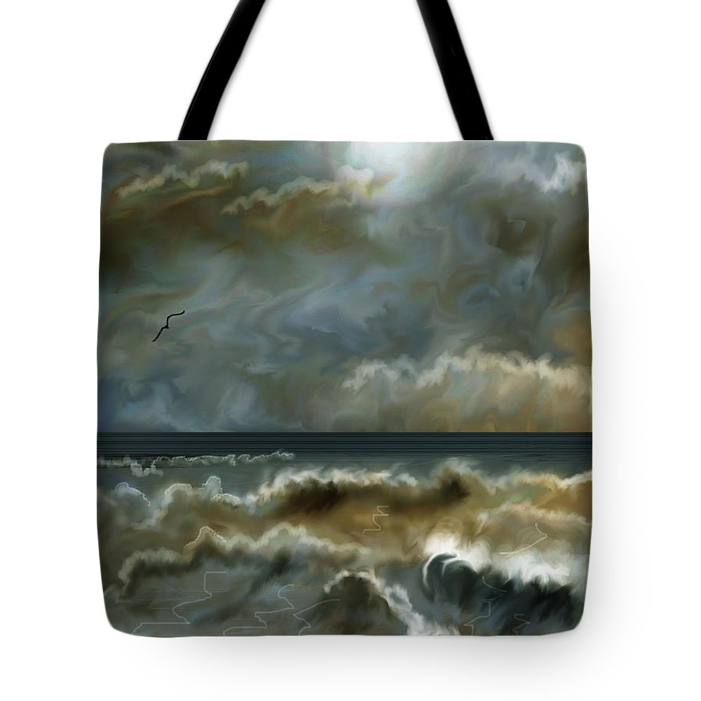Seascape Tote Bag featuring the painting After The Squall by Anne Norskog
