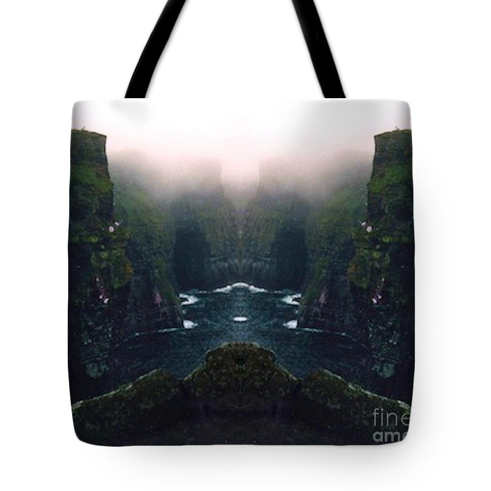 Mountain Tote Bag featuring the photograph Aillte Collide by Vicki Lynn Sodora