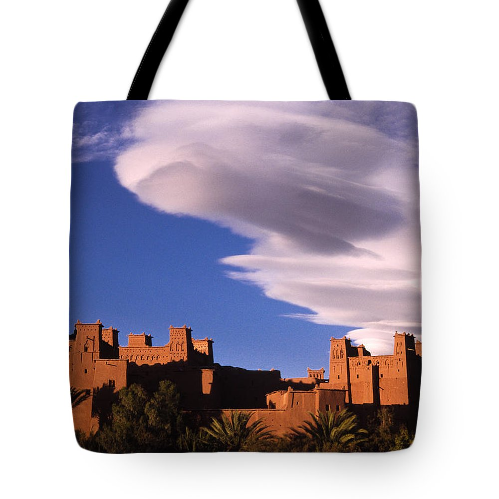 North Africa Tote Bag featuring the photograph Ait Benhaddou Casbah by Michele Burgess