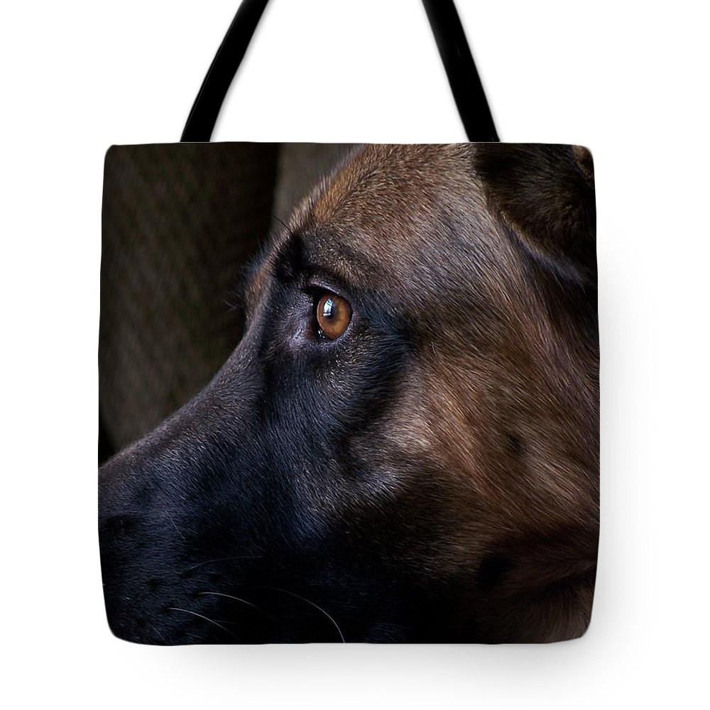 Animals Tote Bag featuring the photograph Alert - German Shepherd Dog by Angie Tirado