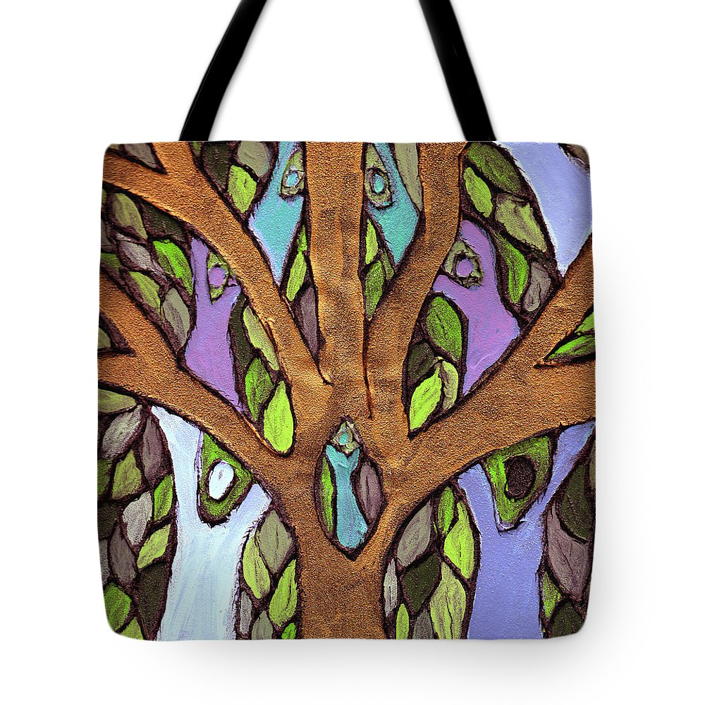 Family Tote Bag featuring the painting All For One by Wayne Potrafka