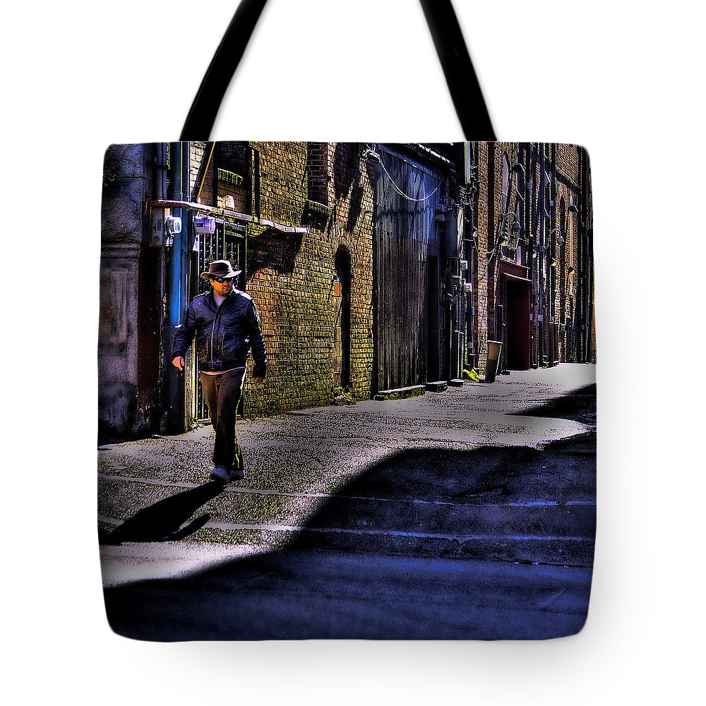 Pioneer Square Tote Bag featuring the photograph Alley Stroll by David Patterson