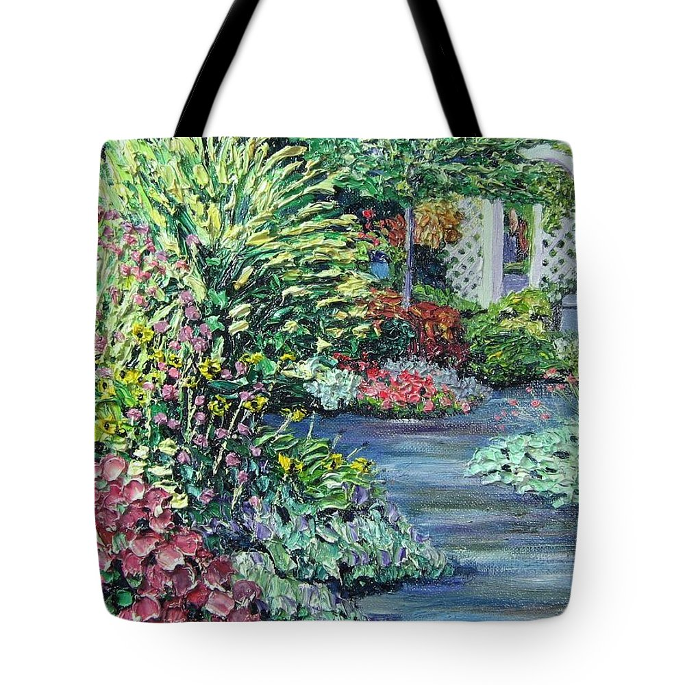 Garden Tote Bag featuring the painting Amelia Park Pathway by Richard Nowak