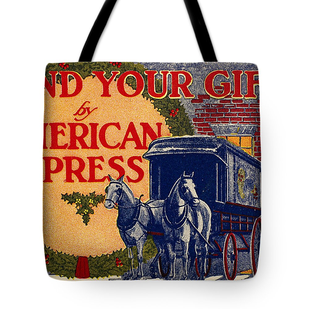 1917 Tote Bag featuring the photograph American Express Shipping by Granger