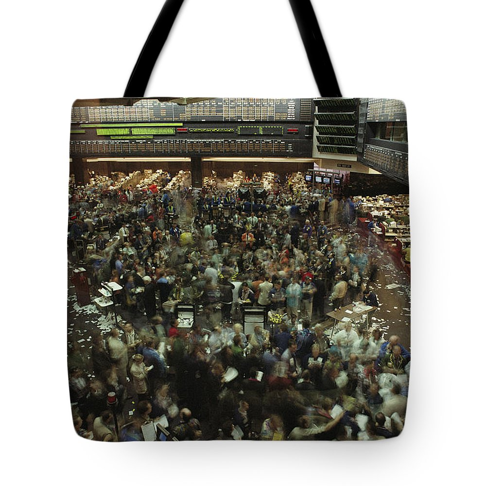 North America Tote Bag featuring the photograph An Elevated View Of Traders by Michael S. Lewis