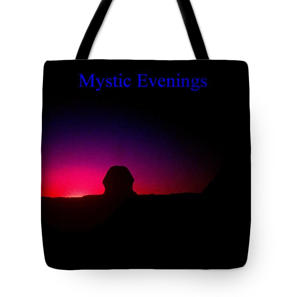 Sphinx Tote Bag featuring the photograph Ancient Evenings by Gary Wonning