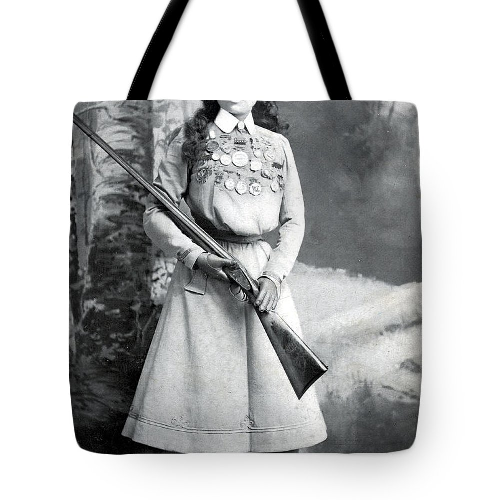 History Tote Bag featuring the photograph Annie Oakley, American Folk Hero 2 by Science Source