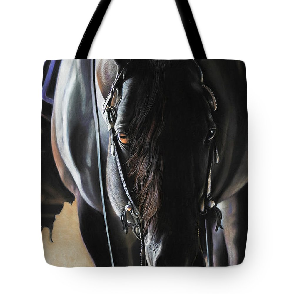 Aqha Tote Bag featuring the pastel Any Time...Any Place by Joni Beinborn