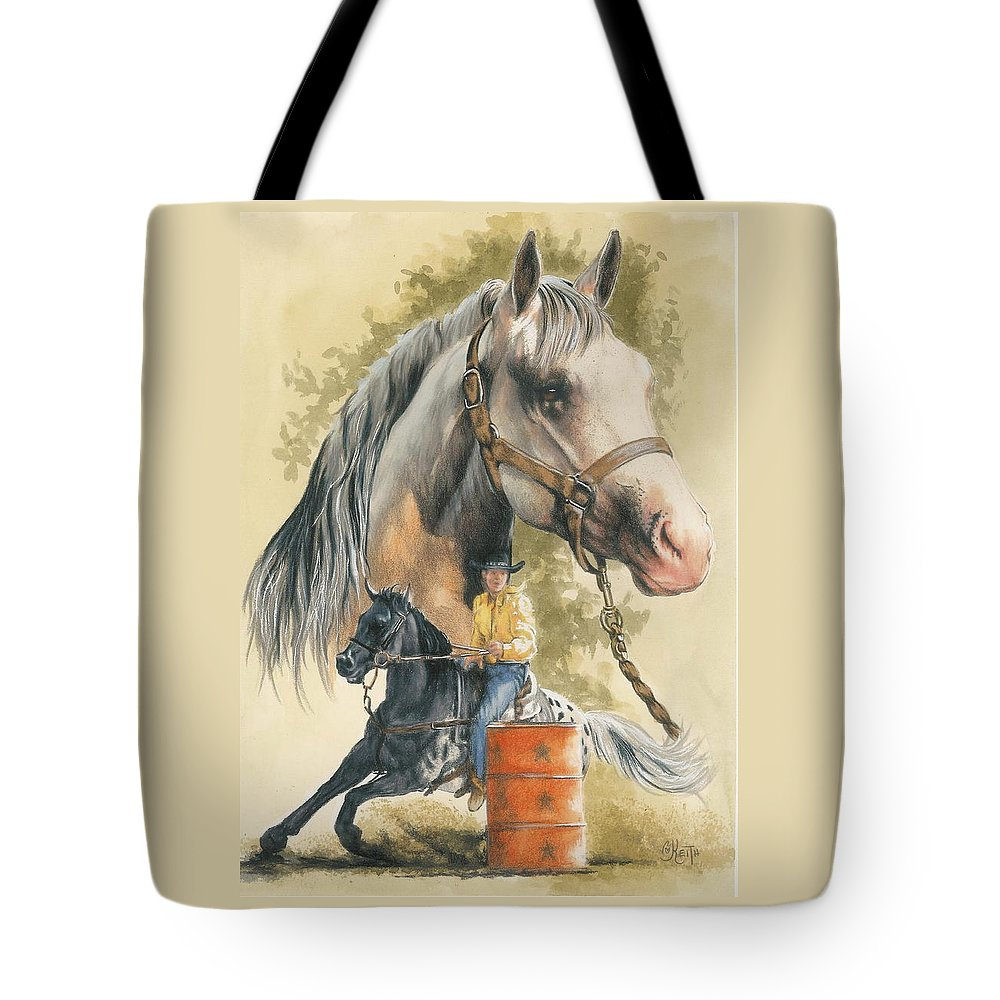 Horse Tote Bag featuring the mixed media Appaloosa by Barbara Keith