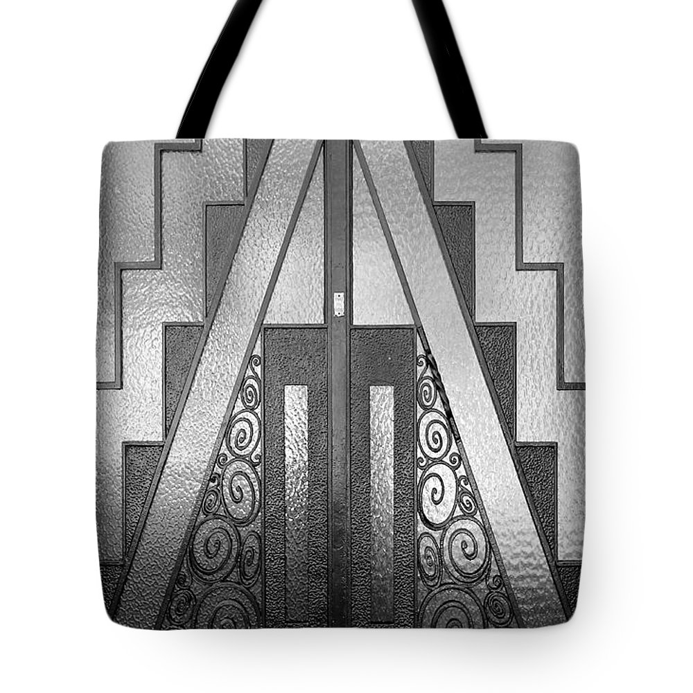 Paris Tote Bag featuring the photograph Art Deco Door by Andrew Fare