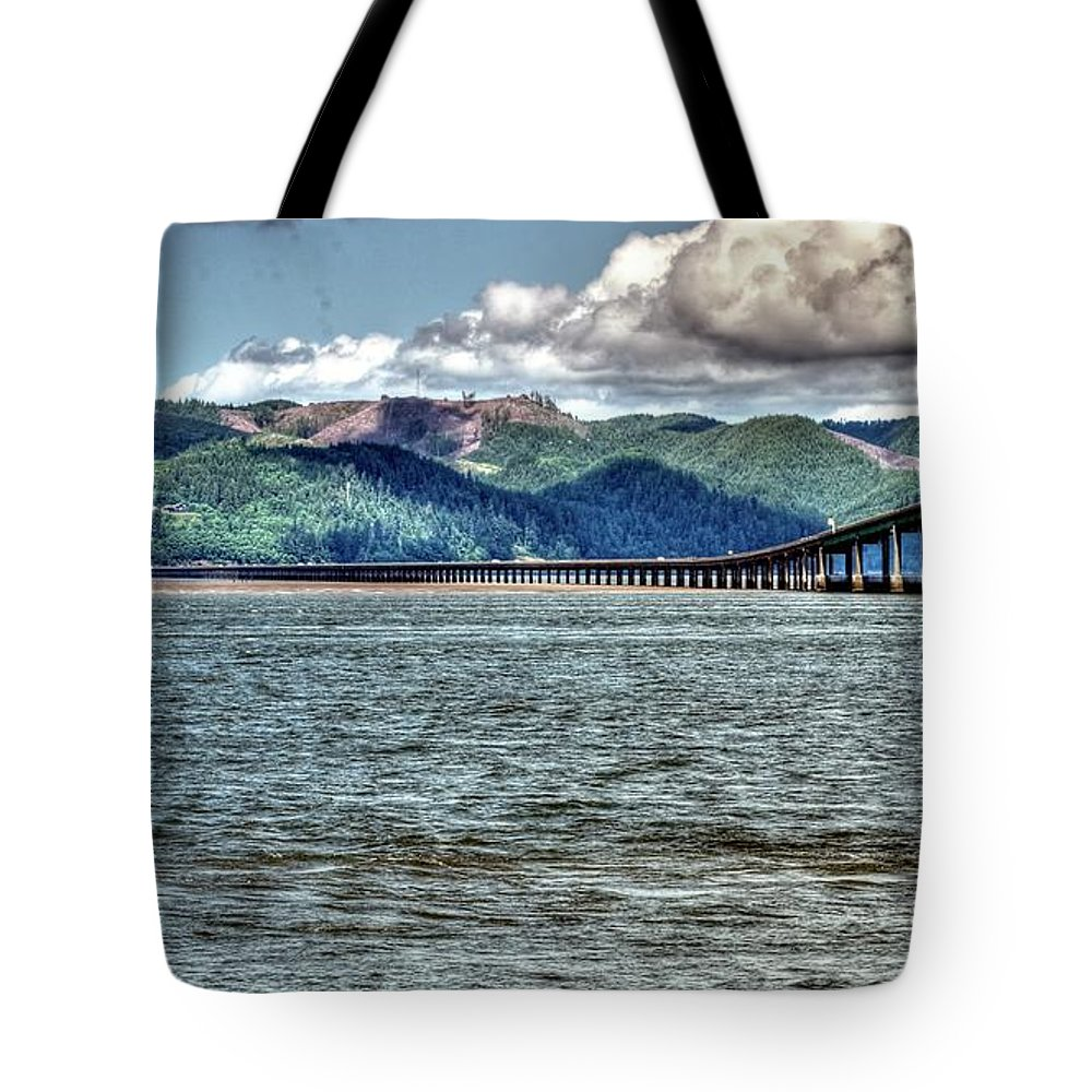 Bridge Tote Bag featuring the photograph Astoria Bridge by Jerry Sodorff
