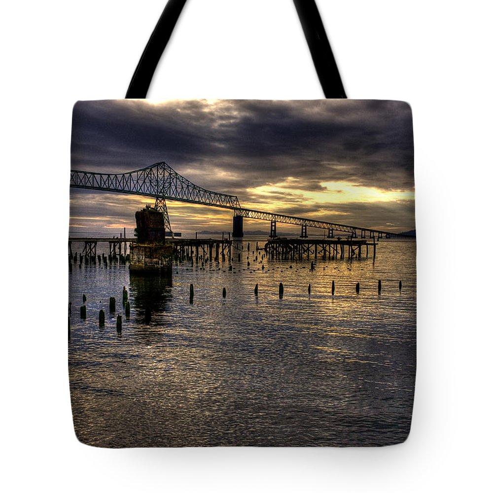 Oregon Coast Tote Bag featuring the photograph Astoria-megler Bridge 5 by Lee Santa