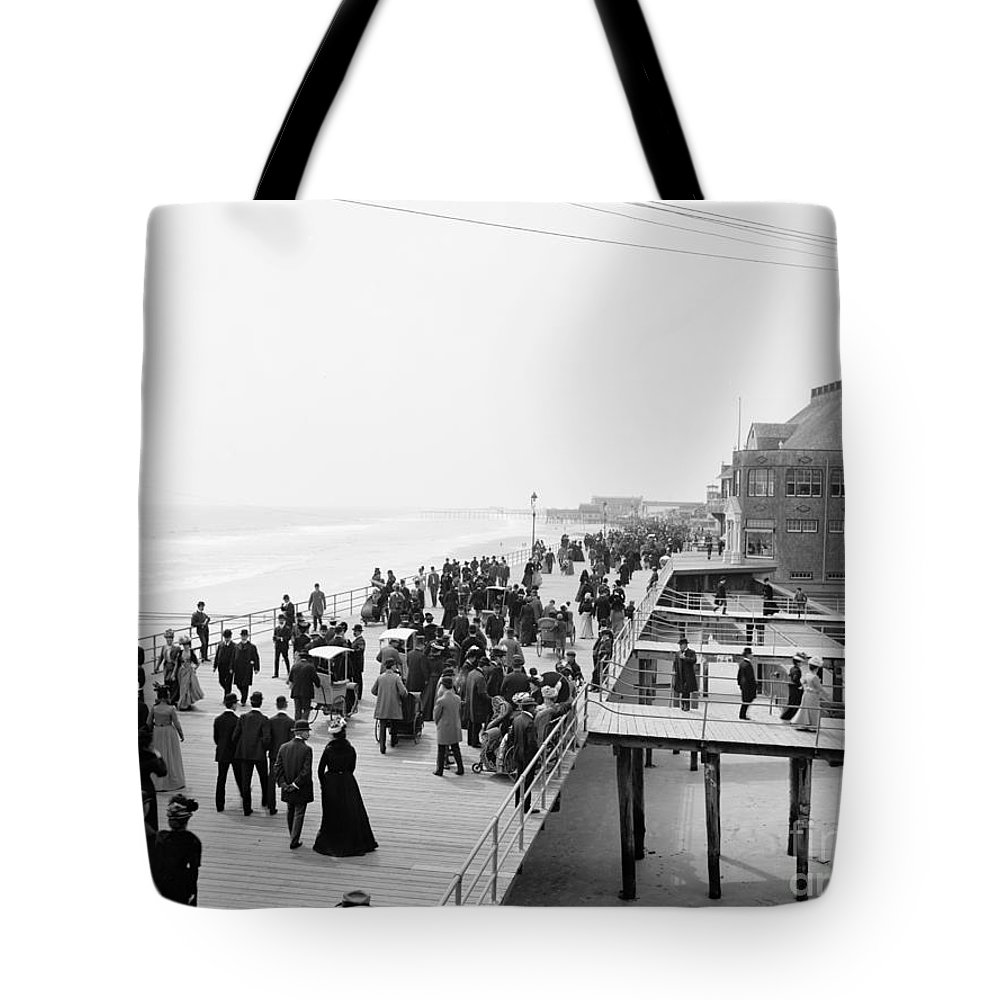 1900 Tote Bag featuring the photograph Atlantic City: Boardwalk by Granger