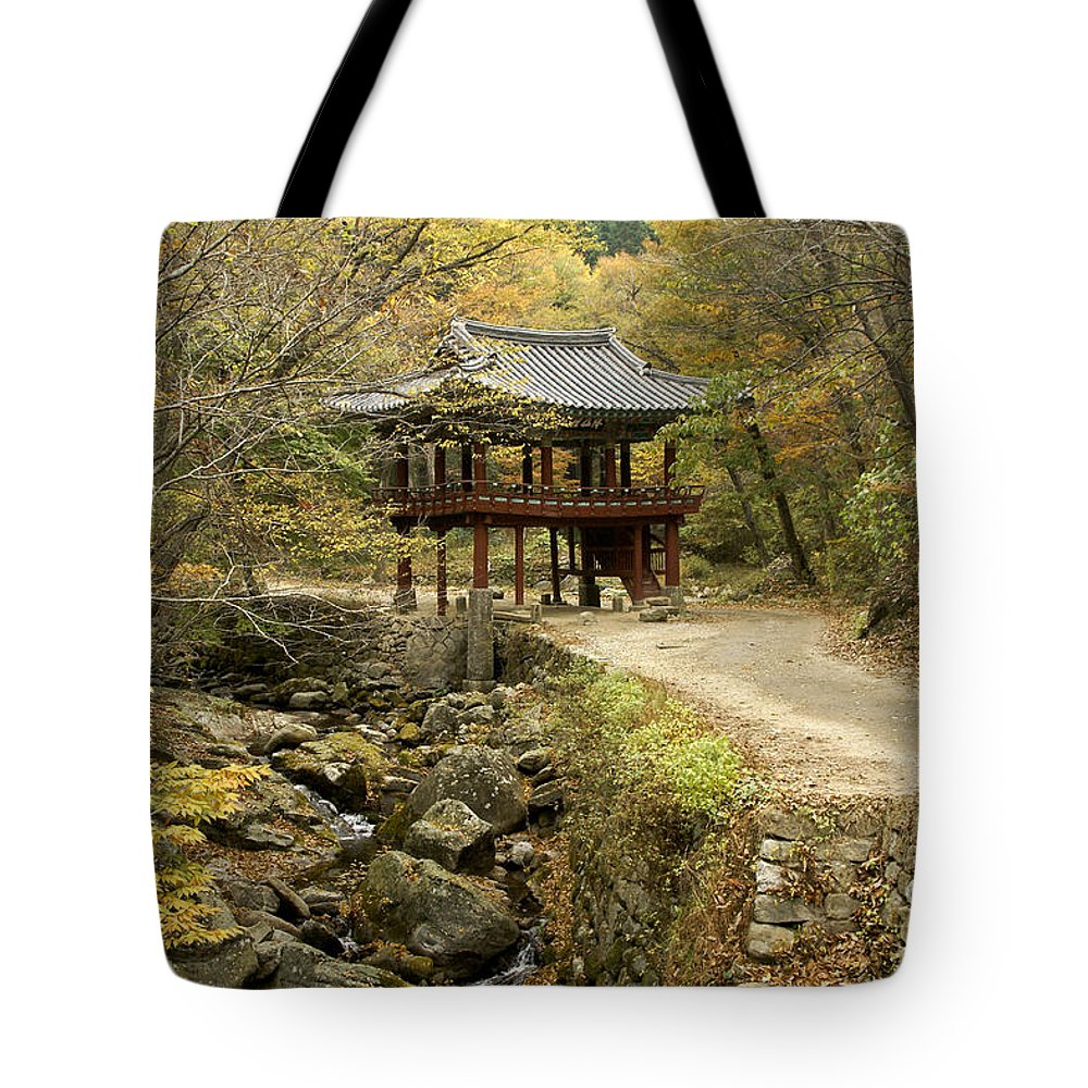 Korea Tote Bag featuring the photograph Autumn At Seonamsa by Michele Burgess