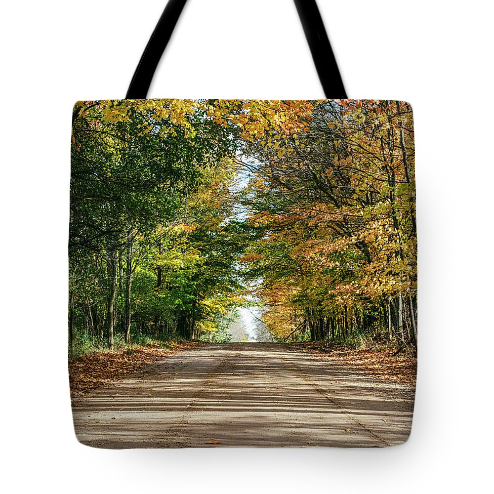35mm Film Tote Bag featuring the photograph Autumn Backroad by John McGraw