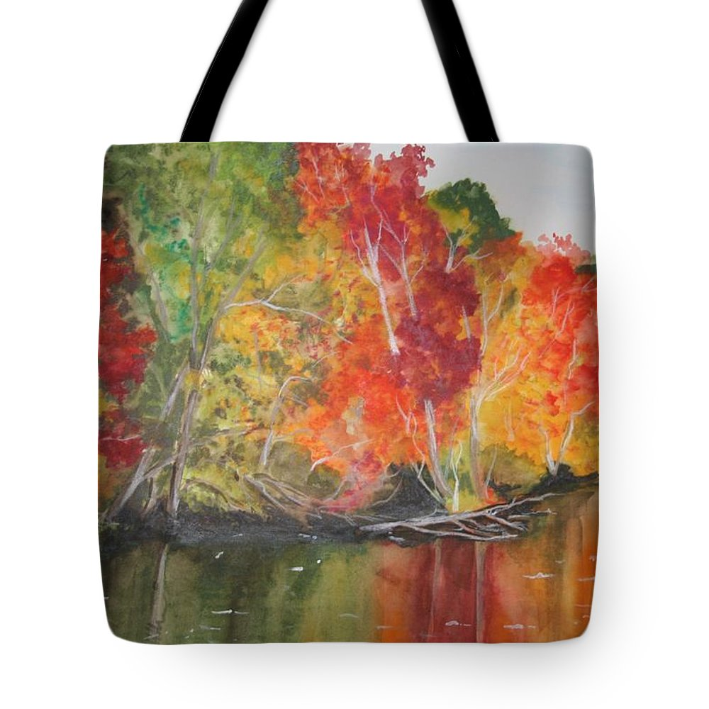 Autumn Tote Bag featuring the painting Autumn Splendor by Jean Blackmer