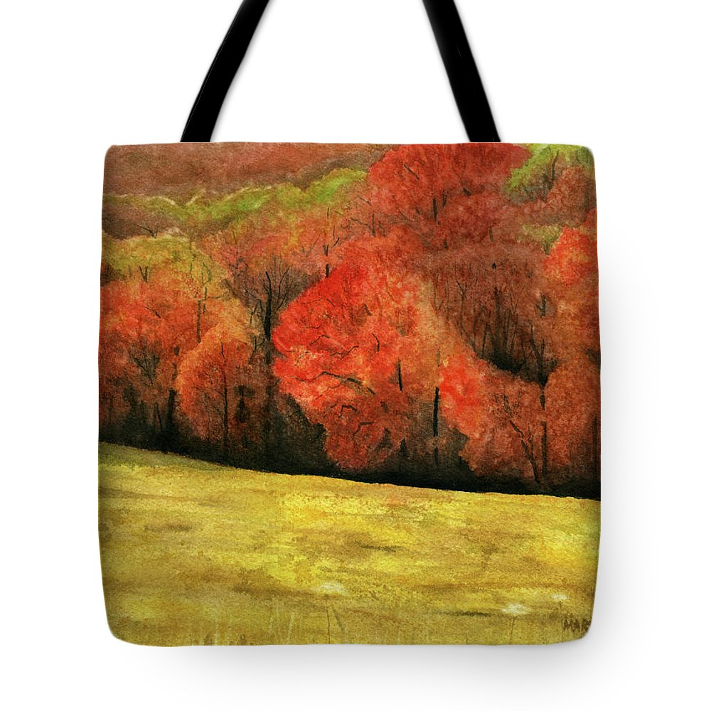 Autumn Tote Bag featuring the painting Autumn Splendor by Mary Tuomi