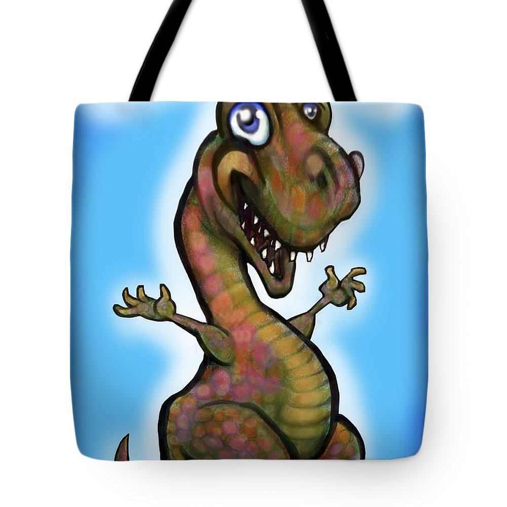 Babyzilla Tote Bag featuring the greeting card Babyzilla by Kevin Middleton