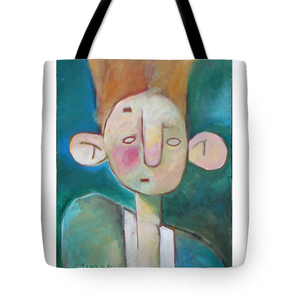 Funny Tote Bag featuring the painting Bad Hair Life by Tim Nyberg