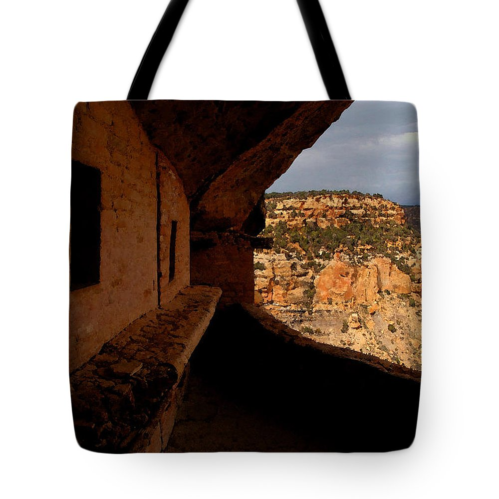 Art Tote Bag featuring the painting Balcony House by David Lee Thompson