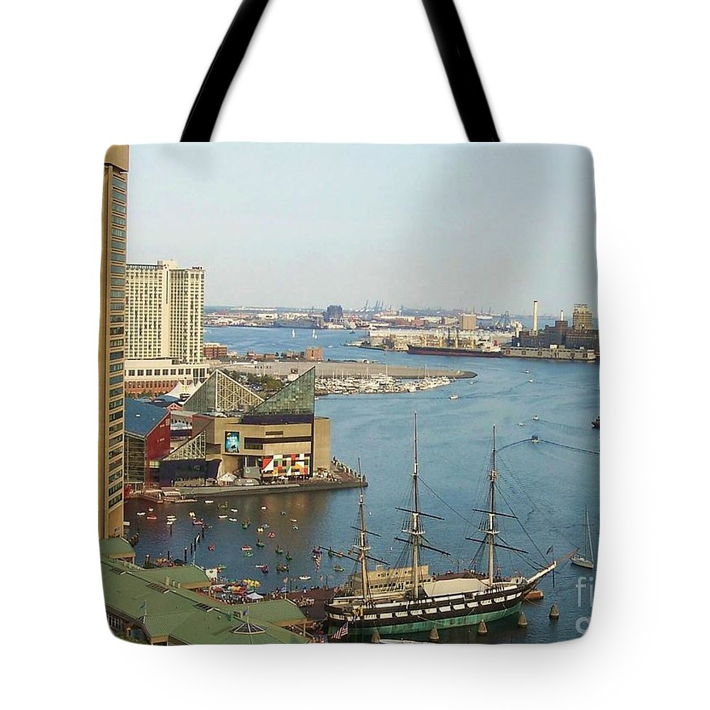 Baltimore Tote Bag featuring the photograph Baltimore by Debbi Granruth