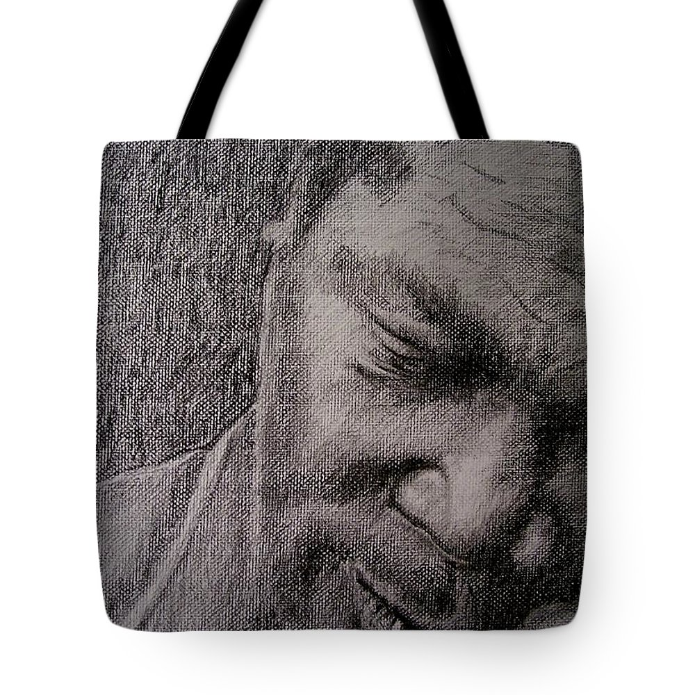 Bbking Tote Bag featuring the painting Bbking by Frances Marino