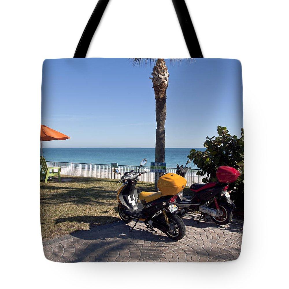 Florida Tote Bag featuring the photograph Beachland Boulevard At Vero Beach In Florida by Allan Hughes