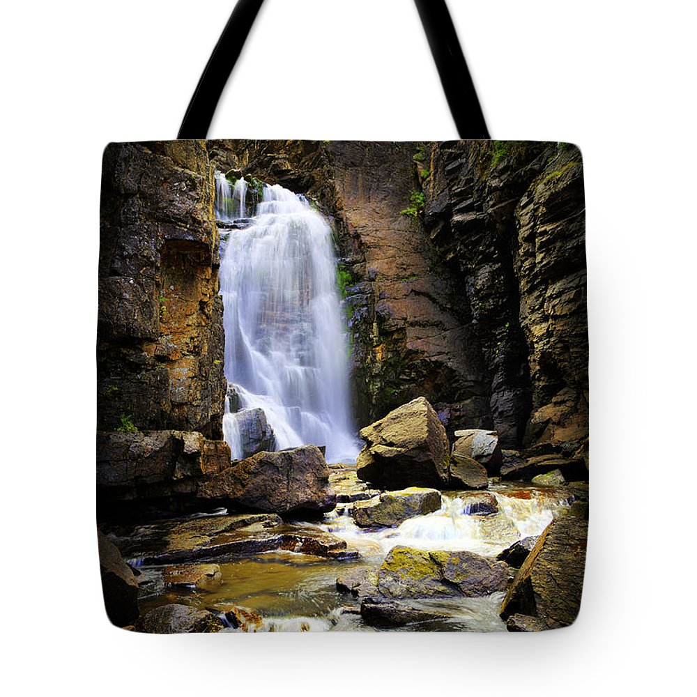 Landscape Tote Bag featuring the photograph Beartooth Falls by Craig J Satterlee