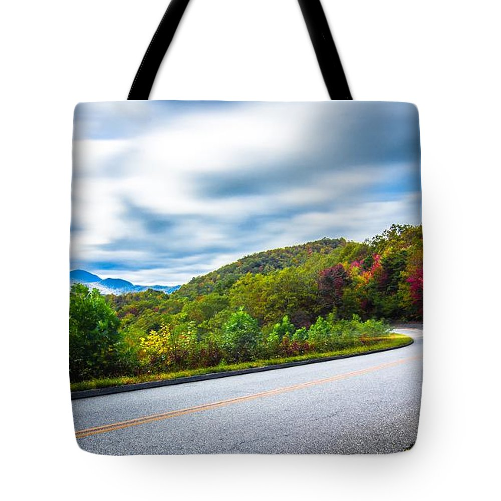 Mountain Tote Bag featuring the photograph Beautiful Autumn Landscape In North Carolina Mountains by Alex Grichenko