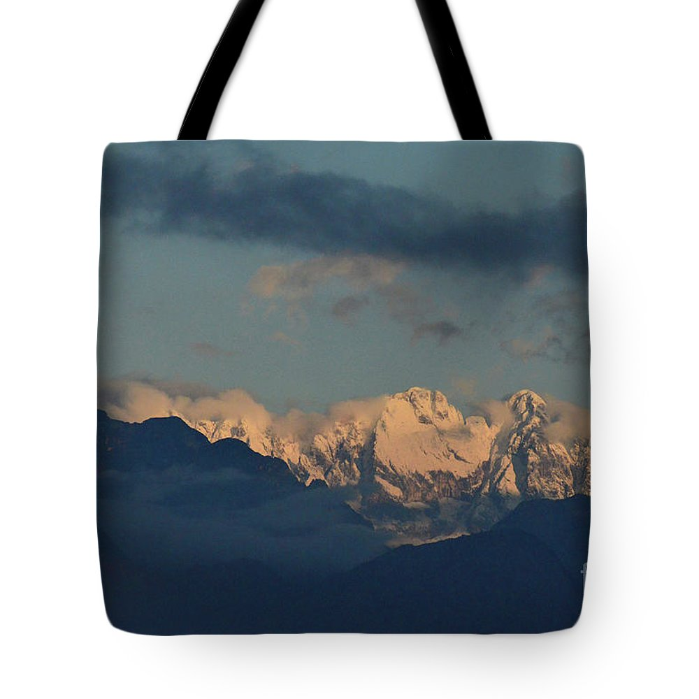 Mountains Tote Bag featuring the photograph Beautiful Scenic View Of The Mountains In Italy by DejaVu Designs