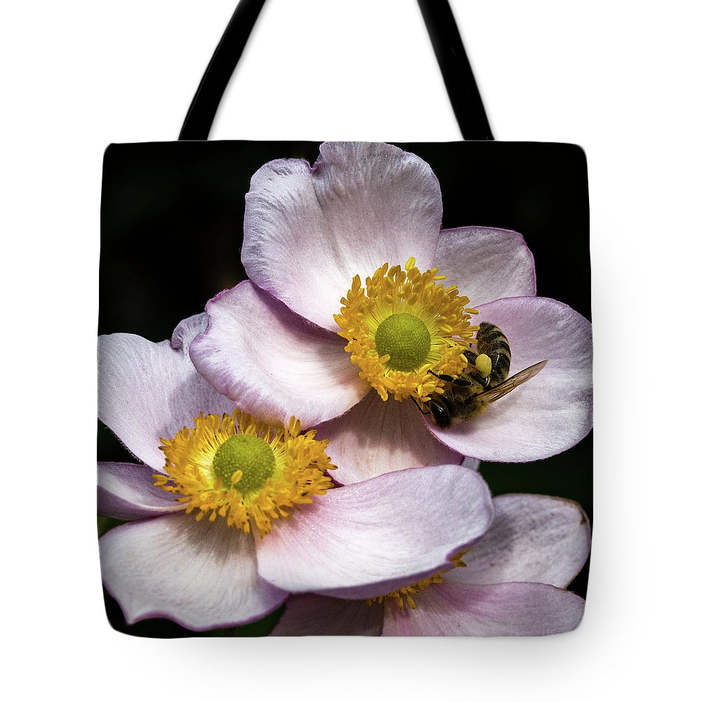 Bee Tote Bag featuring the photograph Bee At Work by Sergej Juganov