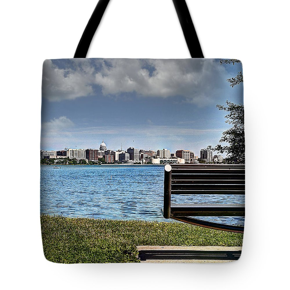 Madison Tote Bag featuring the photograph Best Seat In The House by Deborah Klubertanz