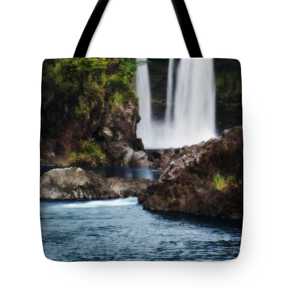 Beautiful Tote Bag featuring the photograph Big Island Waterfall by Greg Vaughn - Printscapes
