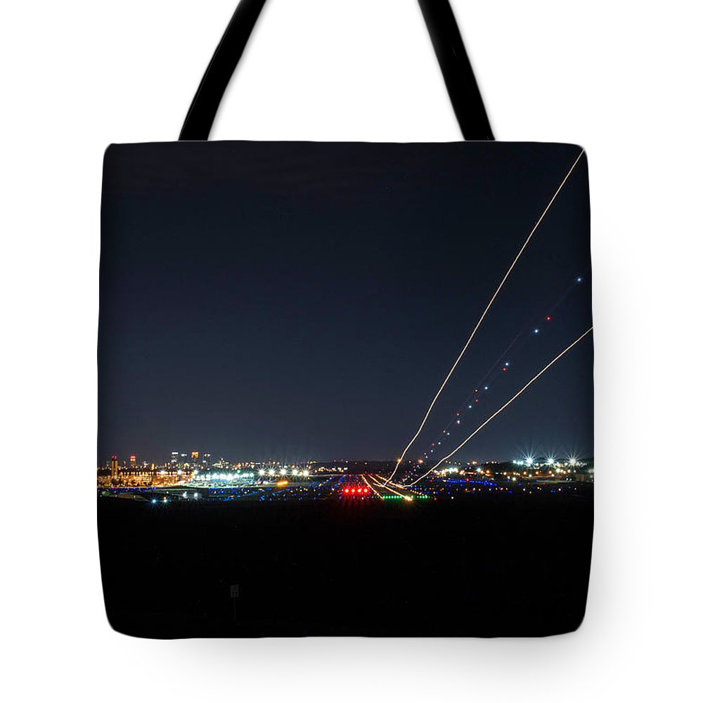 Birmingham Airport Tote Bag featuring the photograph Birmingham Airport ,skyline by Jeffery Gordon