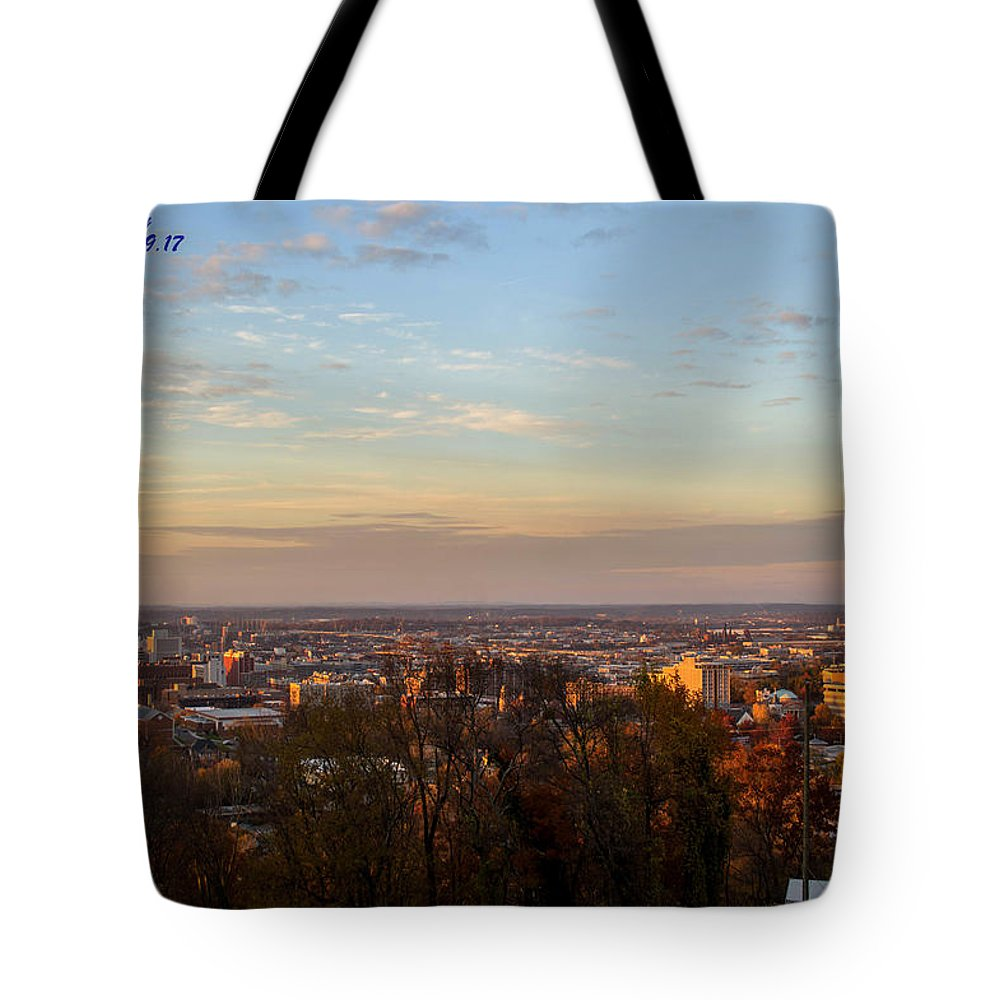 Downtown Birmingham Tote Bag featuring the photograph Birmingham Skyline by Jeffery Gordon