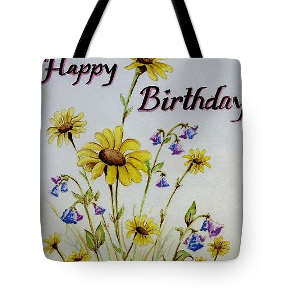 Card Tote Bag featuring the painting Birthday Card by Jimmy Smith