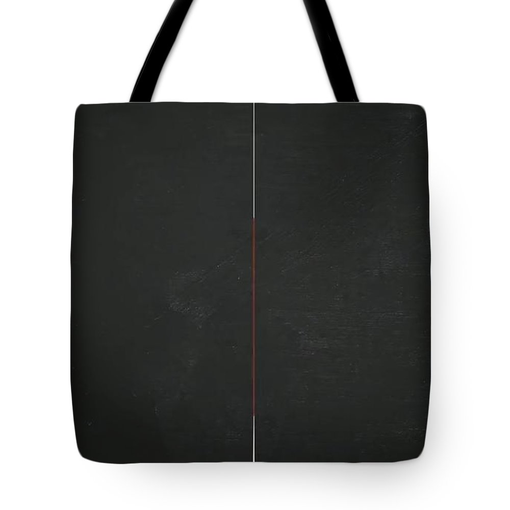 Blackboard Divided Tote Bag featuring the painting Blackboard Divided by Archangelus Gallery