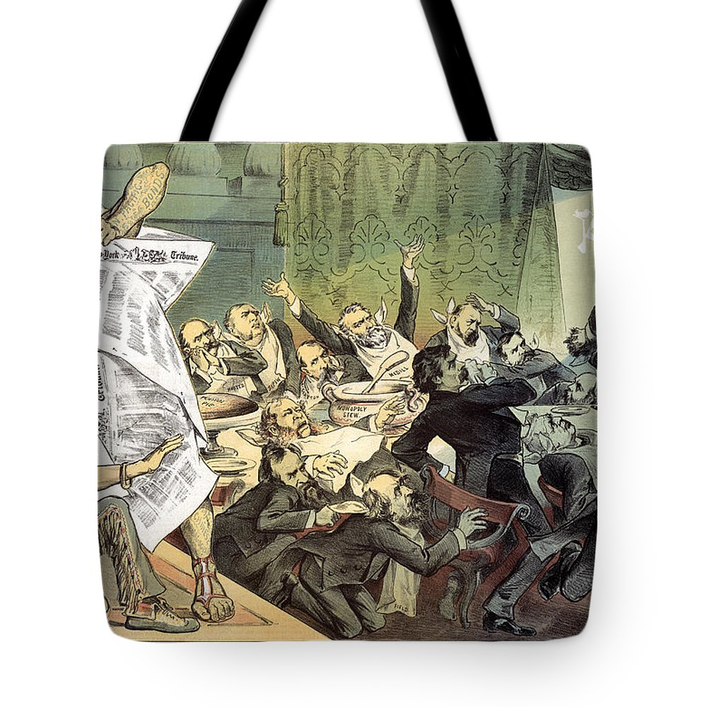 1884 Tote Bag featuring the photograph Blaine Cartoon, 1884 by Granger