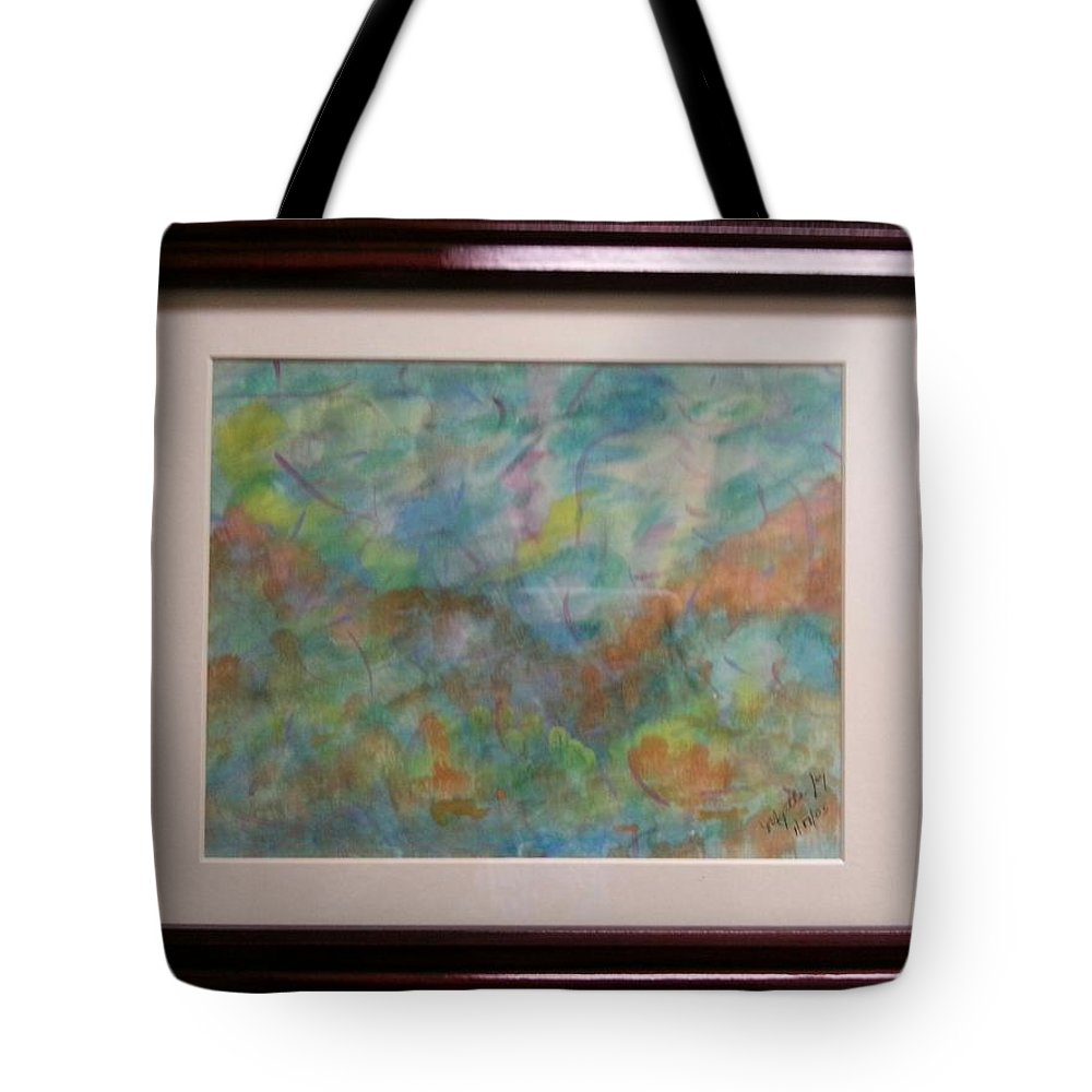 Framed Artwork Tote Bag featuring the painting Blissful by Myrtle Joy