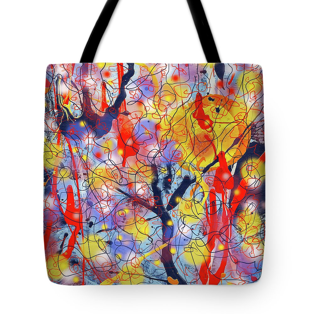 Trees Tote Bag featuring the painting Magic Forest by Maxim Komissarchik